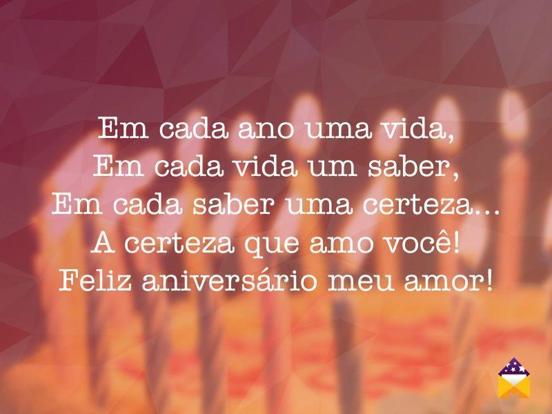 Mensagens De Aniversário: Frases De Aniversario De Namoro Curtas
