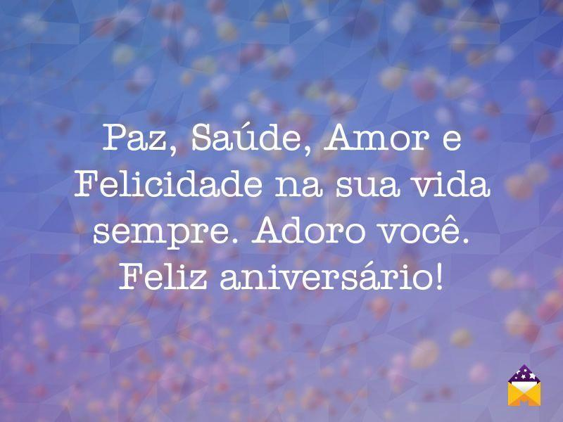 Feliz aniversário, adoro você!