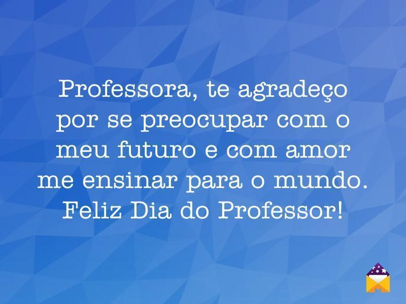 Frases De Dia Do Professor: Professora, Te Agradeço
